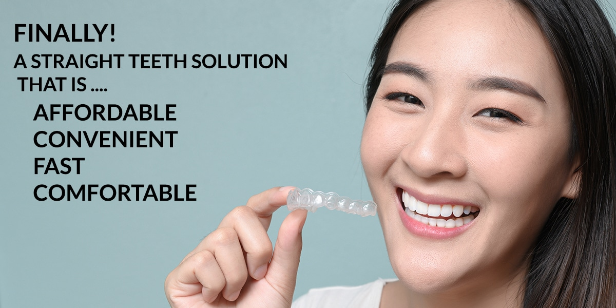 Finally a straight tooth solution that is  Affordable, Convenient, Fast, and Comfortable Photo